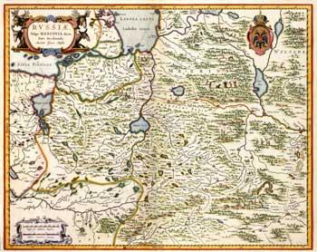 Карта западной части россии