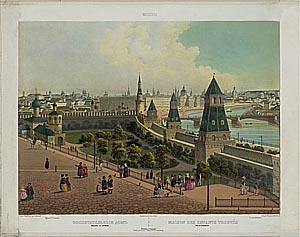 Панорама Москвы, виды, гравюры, панорамные фотографии