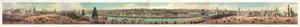 Панорамный вид Москвы, гравюра, эстамп, литоргафия