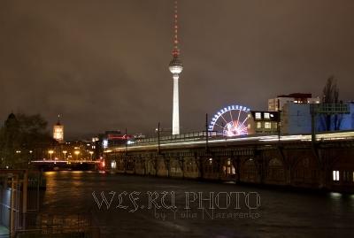 фотография ночного Берлина