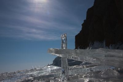 фото льда, льдины в контровом свете
