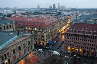 панорамная фотография Берлина, вид с высоты