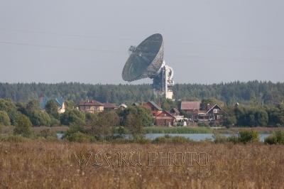 радар, радиотелескоп в Калязине фото