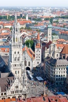панорамный вид Мюнхена