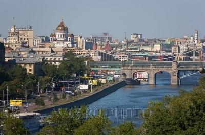 панорамный вид Москвы, фото большого высокого разрешения