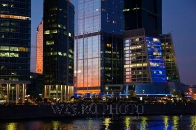 фото Москва-Сити на закате