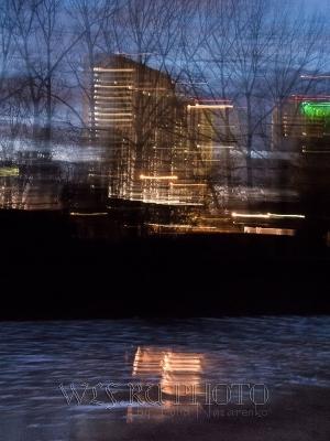 ночной город в движении фото
