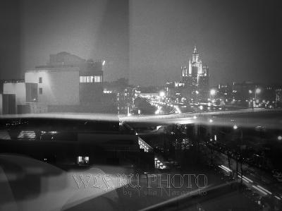 абстрактный постер ночная Москва
