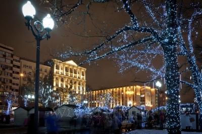 рождественская новогодняя ярмарка в Москве
