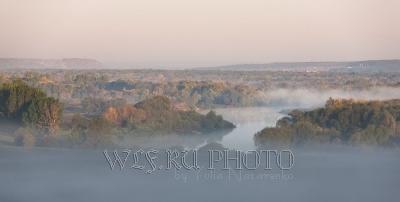 Панорама Дона в тумане