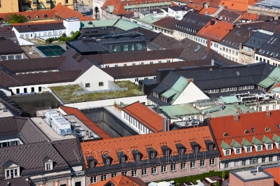 крыши Мюнхена в солнечный день
