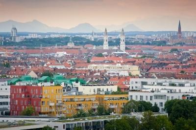 панорама, вид Мюнхена