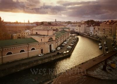 Закат над Петербургом фото питерских крыш