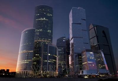 Постер с видом Москва-Сити купить