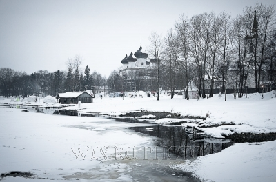 панорама Каргополя зимой фото