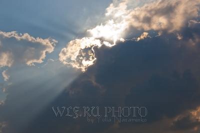 фотография солнца за облаком