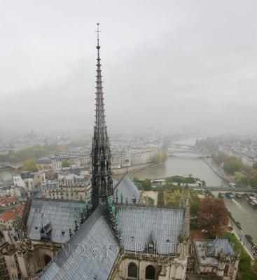 панорамная фотография Парижа
