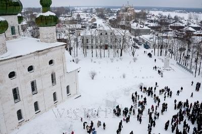 панорама зимнего Каргополя фото