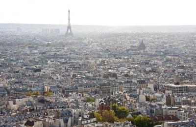 Панорама Парижа с Эйфелевой башней