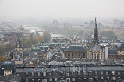 остров Сите в Париже, вид на Сену