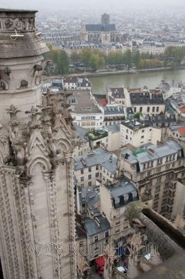 Панорама Парижа фото, вид на Сену