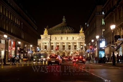 фотография Оперы Гарнье в Париже