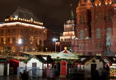 рождественские ярмарки в Москве фото