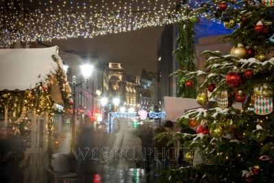 новогодняя рождественская ярмарка в Москве фотография большого разрешения