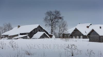 зима в русской деревне, фото