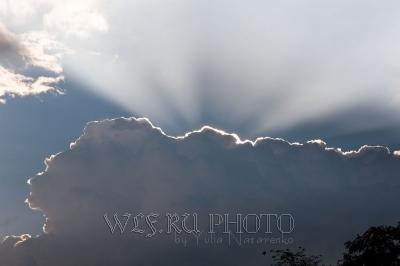лучи солнца из-за облака скачать