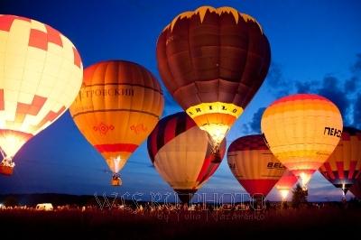 свечение воздушных шаров