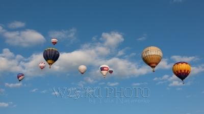 воздушные шары аэростаты в небе