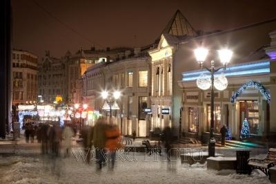 фотография новогодней Москвы