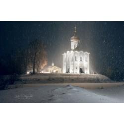 Церковь Покрова на Нерли в снегопад